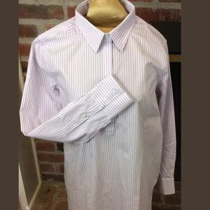 Lavender Pinstriped Oxford No Iron Shirt
